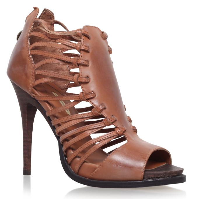 MAX Studio Eliot camel sandali in pelle con tacco RRP  UK6.5 UE 40 LN02 79 vendite