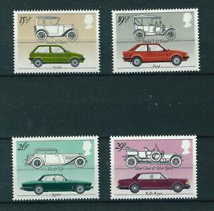 GB-QE-II-1982-British-Motor-Cars-full-set-of-stamps-Mint-Sg-1198-1201