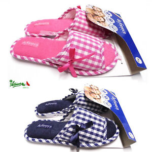 bene carino e colorato vendita calda reale Dettagli su Ciabatte pantofole DE FONSECA donna cotone estive aperte gomma  BARI TOP W508