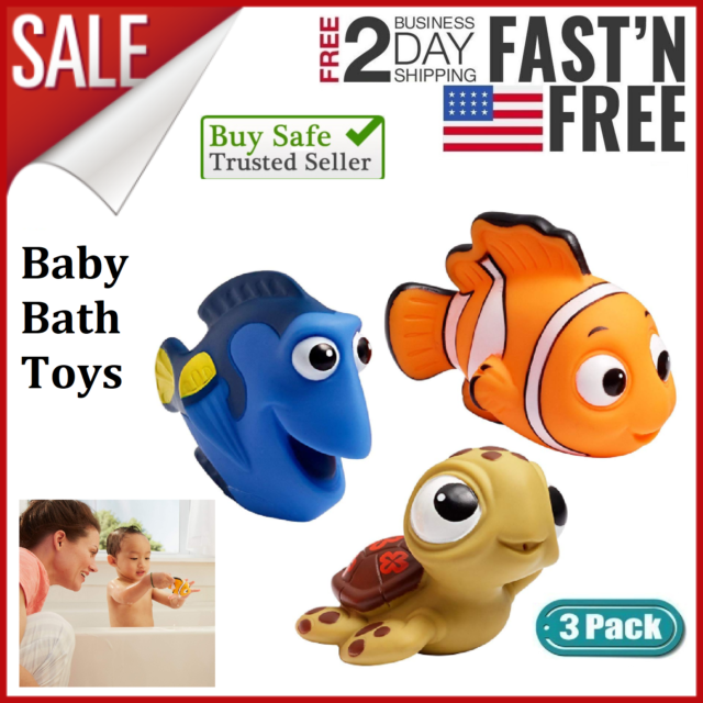 Baby Bath Toys For Toddlers Tub Animals Floating Infant Soft Assorted Characters