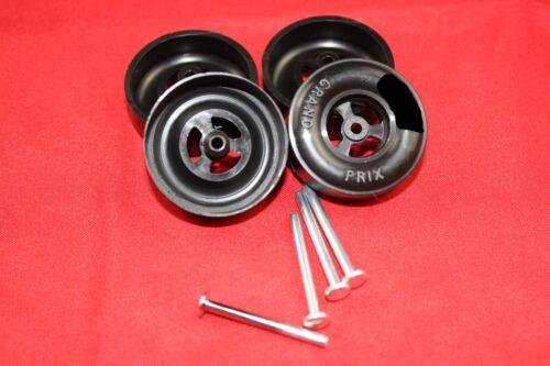 Pinewood Derby AWANA® Speed Wheel and Axle Set 100K Axles 1.5g wheels
