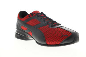 Puma-Tazon-6-Ridge-19403702-Da-Uomo-Rosso-Tela-Lacci-Atletico-Scarpe-Da-Corsa