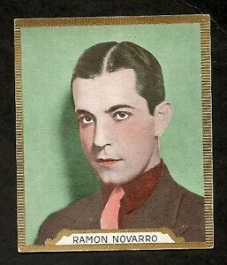 RAMON-NOVARRO-CARD-VINTAGE-1930s-CIGARETTES-ALBERT-FROM-ROSS