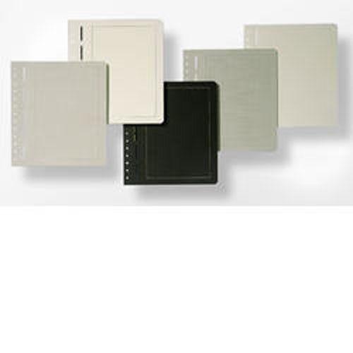 LEUCHTTURM Neutrale Albenblätter, schwarzer Karton, goldene Randlinie