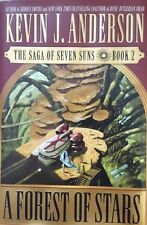 KEVIN J ANDERSON A FOREST OF STARS:BOOK 2 SAGA OF SEVEN SUNS HCDJ 1ST ED RARE