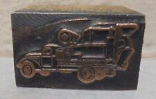 Vintage Cement Truck Metal Amp Wood Letterpress Printing Block Type Nice