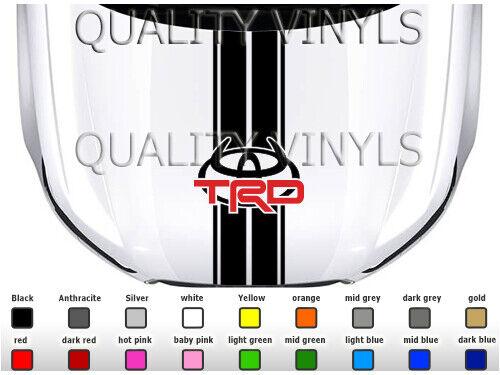 Toyota TRD Bonnet Racing Stripes Graphique Autocollant Stickers BS298