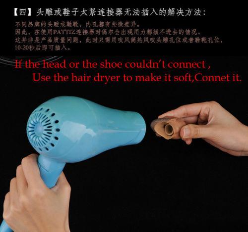 Short Neck Head Sculpt Linker Foot Connectors Fit For 1//6 scale Action Figure