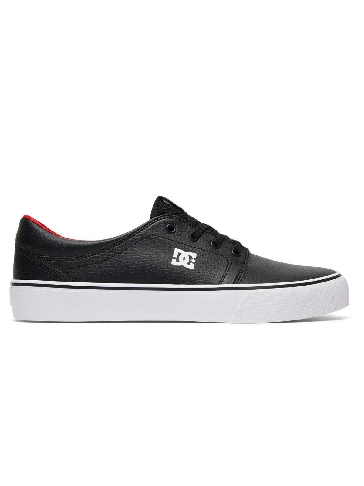 DC BLACK Schuhe  Herren TRAINERS.TRASE BLACK DC LEATHER SKATE Schuhe RUBBER SOLE 7W 00402 XKRW cb4697
