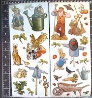 2pages Beatrix Potter Peter Rabbit Big Stickers Alphabet Garden Baby Scrapbook