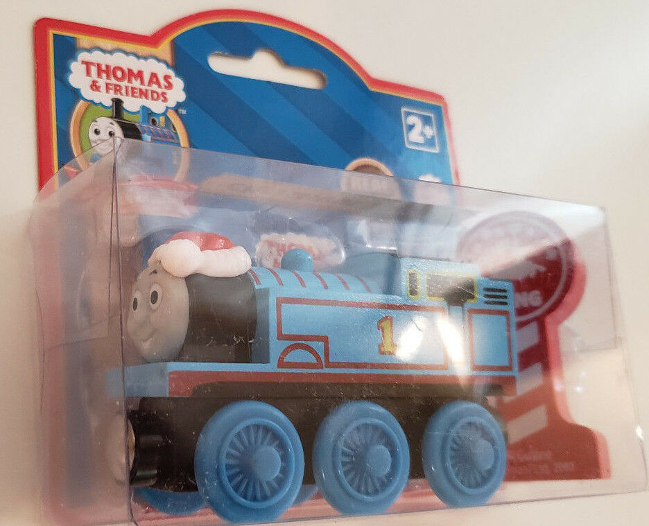 THOMAS & FRIENDS WOODEN RAILWAY - CHRISTMAS THOMAS W REINDEER SIGN  UK EXCLUSIVE