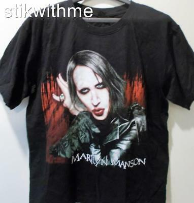 NWOT ~  Marilyn Manson ~ Goth M1 Metal SS Crew Neck T-Shirt ( Reg Men's L) Black