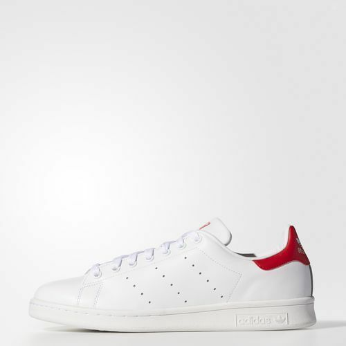 Adidas M20326 Men originals Stan Smith Running shoes white red sneakers