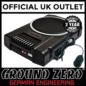 Ground-Zero-GZTB-20ACT-8-034-Active-Flat-Underseat-Bass-Enclosure-Car-Subwoofer-Box
