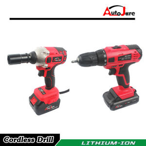 Image Is Loading 18v 20v Tool Ful Cordless Drill And Impact