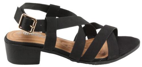 Weeboo Women/'s Maggie-4 Adjustable Buckle Strappy Low Heel Sandals