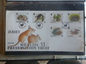 JERSEY-1997-WILDLIFE-PRESERVATION-SET-6-STAMPS-FDC-FIRST-DAY-COVER