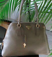 PRADA BAG Medium Luxe Dome Leather Handbag - 100% Authentic
