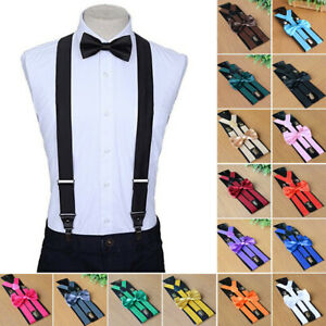 Suspender And Bow Tie Set For Adults Men Teens Combo Sets Fancy Costume