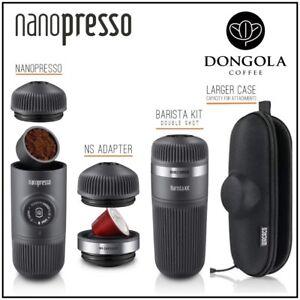NANOPRESSO Espresso Coffee Machine / BARISTA KIT / NS ADAPTER / CASE SELECTION
