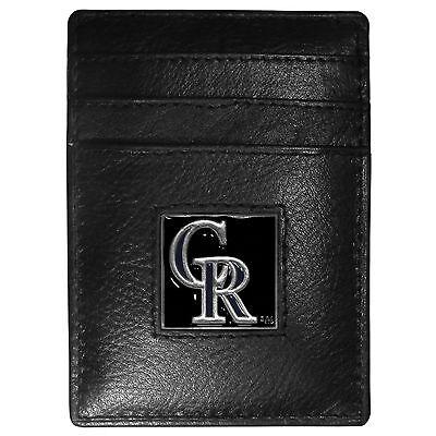 Herrlich Colorado Rockies Mlb Feine Vollleder Kartenhalter Geldklammer Portemonnaie Husten Heilen Und Auswurf Erleichtern Und Heiserkeit Lindern Baseball & Softball