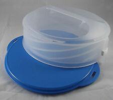 Tupperware C 167 Tortentwist Tortenbehälter höhenverstellbar Hellblau / Weiß Neu