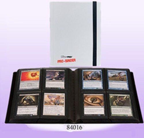 ultra pro white 4 pocket pro binder album binder holds 160 cards mtg