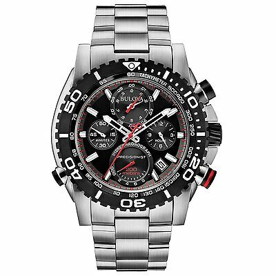 Bulova Precisionist Men's 98B212 Quartz Chronograph Sport 47.5mm Watch