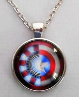 Captain America civil War Movie Glass Dome Pendant On 20 Chain