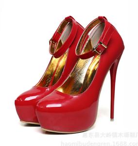 Women-High-Heels-Platform-Strap-Mens-Crossdresser-Queen-Stiletto-Shoes-yoooc