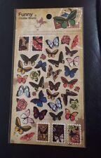 Mariposas Hoja Pegatina Individual Mariposa Pegatinas Artesanía Álbum de recortes