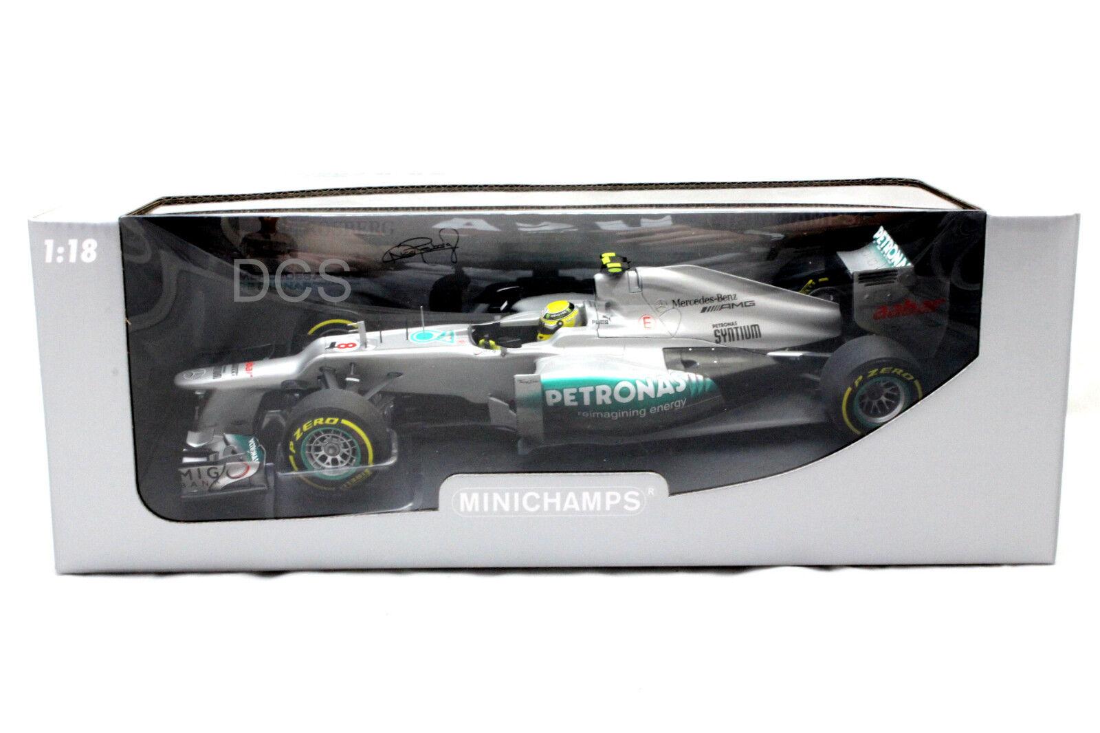 Minichamps F1 W03 Mercedes Amg Petronas 2012 Nico Rosberg 1 18 Diecast