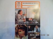 CARTE FICHE CINEMA 1986 LES COULISSES DU POUVOIR Richard Gere Julie Christie