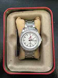University of Alabama Jack Mason Stainless Steel Glitz Sport Bracelet Watch