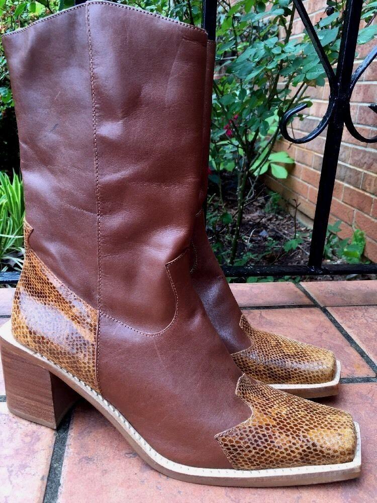 WHITE MOUNTAIN Stallion Alligator Crocs Cowboy Boots shoes Womens Size 9.5 NEW