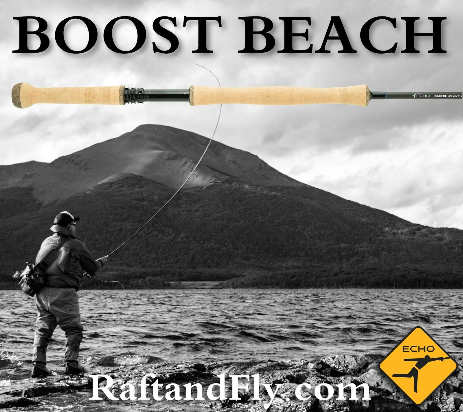 Echo Boost Beach 8wt 12'2  Surf Fly Rod - Lifetime Warranty - FREE SHIPPING