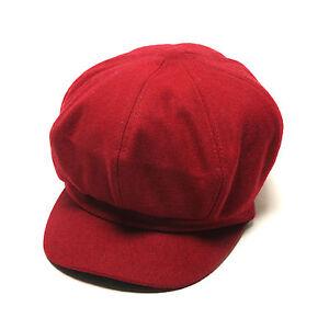 7af41519b0b Unisex Mens Womens Wool Baker Boy Flat Cap Newsboy Cabbie Gatsby ...