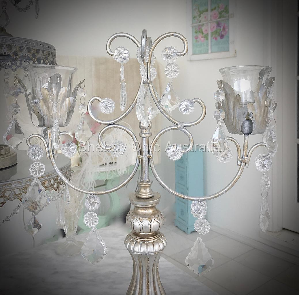 French chic silver candle holder candelabra decoration for 7 candle christmas decoration