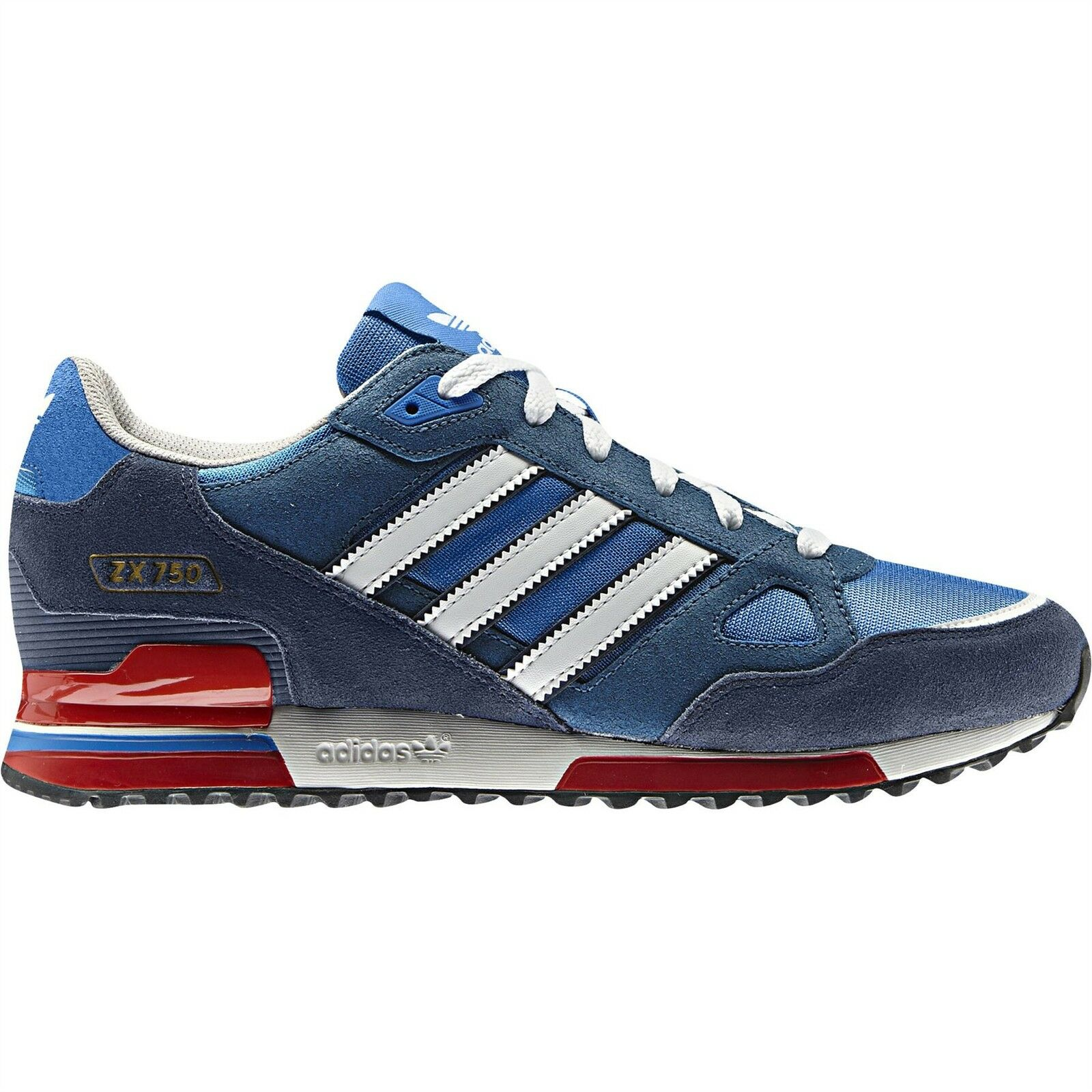 adidas ORIGINALS ZX 750 TRAINERS bleu rouge SNEAKERS Chaussures 7 8 8.5 9 9.5 10 11 12