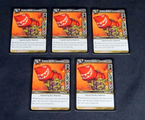 Lot of 5 World of Warcraft WoW TCG Goblin Rocket Launcher Crafting Item Epic