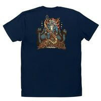 Santa Cruz Jason Jessee Vintage Neptune T Shirt Navy Medium on Sale