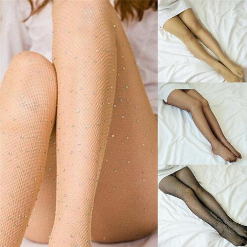 Womens Crystal Rhinestone Fishnet Net Mesh Socks Stockings Tights Pantyhose Gift
