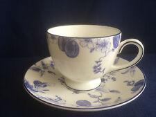 Wedgwood Blue Plum tea cup & saucer (second - paint specks)