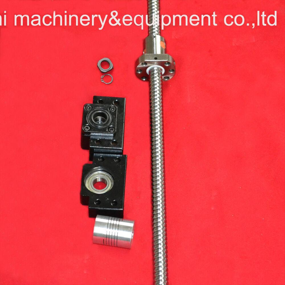 1pc Ball screw 1605-L750mm-C7 6.35*10mm coupler bearing mounts BK12 BF12
