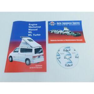 CD libretto di servizio MAZDA Bongo 1995-2006 2.5TD TURBO DIESEL Motore MANUALE