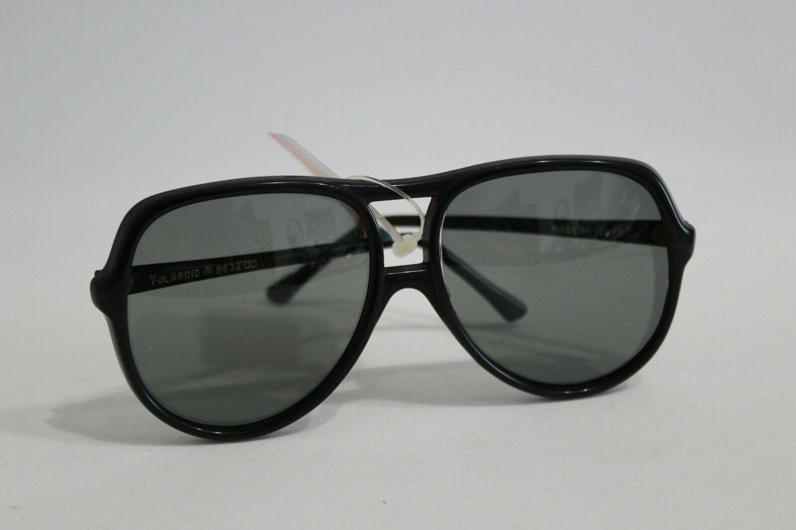 70er years Polaroid Italy 8632 sunglasses sunglasses Vintage Unisex Black-show original title