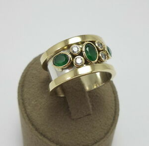 STERLING-925-SILVER-HANDCRAFT-JEWELRY-EMERALD-LADY-RING