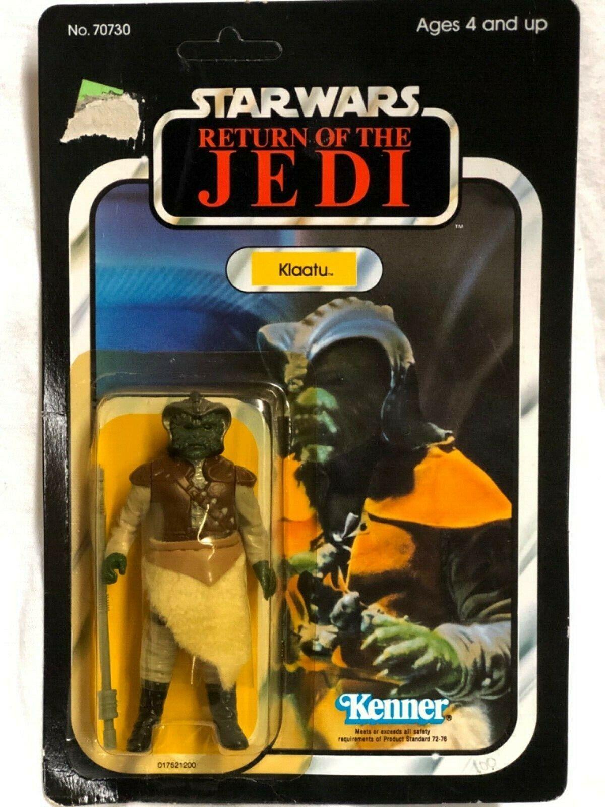 Menta en tarjeta 1983 Klaatu retorno de las Jedi de Estrella wars regreso del Jedi U P