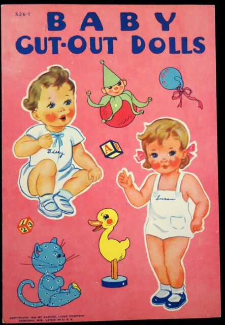 Un-Cut Paper Doll Book Baby Cut-Out Dolls, Samuel Lowe, 1944