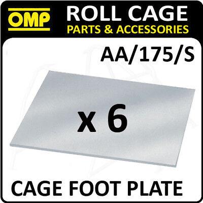 Aa/175/s Omp Roll Cage 3mm Piede Piatto Piastre Pack (x6) Approvata Dalla Fia Race/rally-